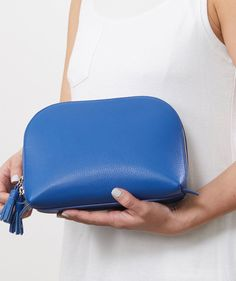 2c8a9eb0bc Leather Clamshell Makeup Bags
