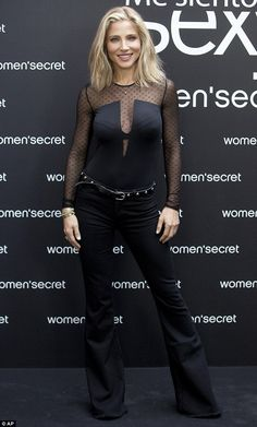 Model behaviour: Elsa Pataky was unveiling her new Women's Secret ad campaign at a photocall for the lingerie brand in Madrid, Spain on Tuesday