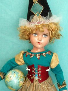 "HAZEL TWIGG No.99 New Year's RESOLUTION  21"" R&B Nanette Vtg. Composition Doll"