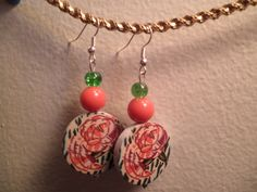 Earrings 095 Last Rose of Autumn by AllMyEarrings on Etsy