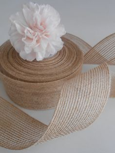 Burlap Ribbon 1.5 Rustic Ribbon  10 Yards by partysupplyshack, $10.00