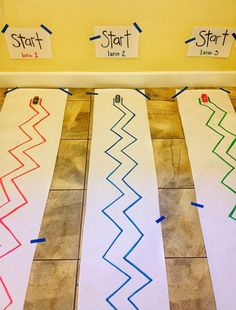 Z is for Zig-Zag Track - Practice Fine Motor control by Brilliant Beginnings Preschool