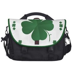 Shamrocks Laptop Bags   •   This design is available on t-shirts, hats, mugs, buttons, key chains and much more   •   Please check out our others designs at: www.zazzle.com/ZuzusFunHouse*