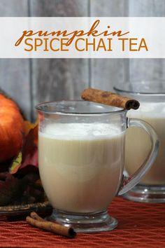 Pumpkin Spice Chai Tea Recipe! | http://www.passionforsavings.com/pumpkin-spice-chai-tea-recipe/