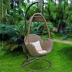 Yi Kailin - wicker - rattan hanging chair - Rattan basket - cane swing - lounge chair - patio furniture -6063 $150