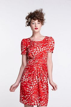 Ruched Dragonfly Dress-Ruched Dragonfly Dress Karen Walker at Anthropologie....retro yet modern and sooo LOVELY!
