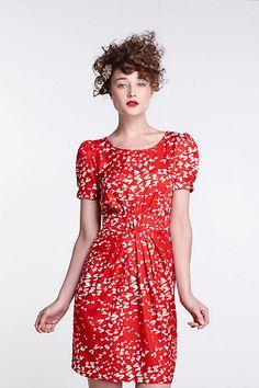 Ruched Dragonfly Dress-Ruched Dragonfly Dress Karen Walker at Anthropologie....retro yet modern and sooo LOVELY!