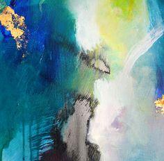 Original abstract painting modern art acrylic by ARTbyKirsten