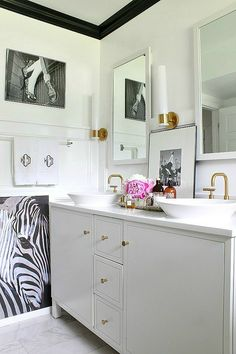 Leaning Art in the Bathroom and a Phase Two Update Imagine Dragons Concert, Art Deco Bathroom, Bathroom Ideas, Family Bathroom, Bathroom Designs, Touchless Kitchen Faucet, Interior Design Tools, Chic Bathrooms, Upstairs Bathrooms