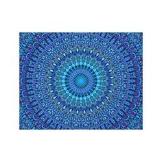 Decorate your walls with Blue canvas prints from Zazzle! Choose from thousands of great wrapped canvas to beautify your home or office. Blue Canvas Art, Canvas Art Prints, Bedroom Decor, Wall Decor, Wall Art, Mandala Canvas, Wrapped Canvas, Outdoor Blanket, Spirituality
