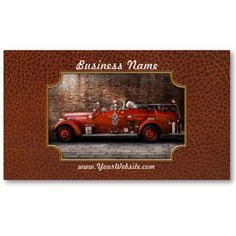 Fireman - FGP Engine No2 Business Cards by suburbanscenes