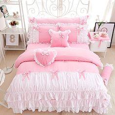 Sisbay Romantic Princess Bowknot Bedding Pink Twin,Baby G... https://www.amazon.com/dp/B01F5NZV5K/ref=cm_sw_r_pi_dp_x_eJttybGC0J6QG
