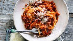 White fish spaghetti bolognese