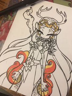 """Amanda Lien on Twitter: """"Keyleth. Bit of a different style from usual…"""