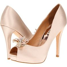 Gorgeous! Badgley Mischka natural-colored satin shoes