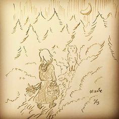 【masashikiniwa】さんのInstagramをピンしています。 《ある日、森の中、くまさんが、出会った。  #イラスト  #森作ノート  #くま  #森  #女の子  #バスケット  #花  #illustration  #illustrator  #bear  #wood  #forest  #girl  #basket  #flower  #morisakunote》