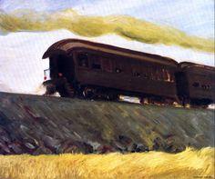 (bofransson:   Railroad Train Edward Hopper - 1908)