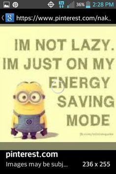 so no one's lazy in the world!! xP