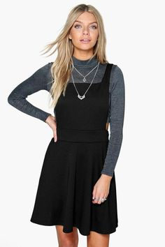 Selena Cross Back Pinafore Dress - $26.00