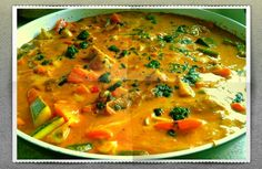 Low fat vegetable and chicken curry