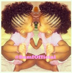 Love this look on the baby! Childrens Hairstyles, Baby Girl Hairstyles, Natural Hairstyles For Kids, Mohawk Hairstyles, My Hairstyle, Black Girls Hairstyles, Hairstyle Ideas, Little Girl Braids, Braids For Kids