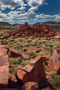 Wupatki Pueblo at Wupatki National Monument | by StephanieGreerPhotography.com
