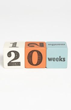 Baby Age Blocks - cute for photos