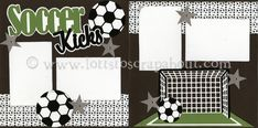 Image detail for -Soccer Kicks Scrapbook Page Kit :: Lotts To Scrap About - Your Online ...