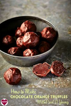 How to make chocolate orange truffles with chocolatier Paul A Young #truffles #handmade #gifts