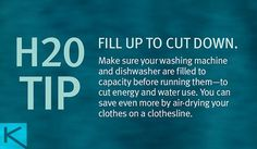 April is Earth Month! Here's an H2O tip for us all.