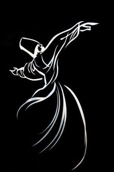Explore inspirational, rare and mystical Rumi quotes. Here are the 100 greatest Rumi quotations on love, transformation, existence and the universe. Art Sketches, Art Drawings, Whirling Dervish, Bagdad, Turkish Art, Arabic Art, Islamic Art Calligraphy, Black Paper, Doodle Art