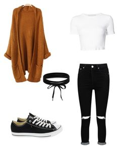 """""""Basic#7"""" by aicha-13 on Polyvore featuring mode, Boohoo, Rosetta Getty en Converse"""
