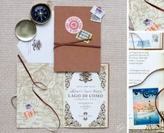 Travel Themed Wedding Invitations   SouthBound Bride
