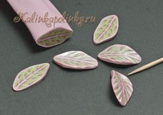 """Master class """"sausage-leaf."""" - Polymer Clay for Beginners. Master classes on modeling. - Workshops - Kalinkapolinka"""