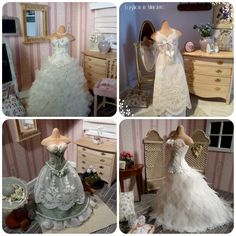 Wedding and evening dresses in 1:12 scale
