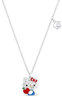HK |❣| HELLO KITTY Swarovski Red Apple Pendant
