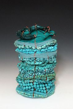 Tristyn Albright : Artist | Designer | Craftsman Basket Weaving, Woven Baskets, Metal Baskets, Artist And Craftsman, Beaded Boxes, Spirited Art, Shades Of Turquoise, Old Art, Beaded Embroidery