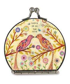 Yellow Love Bird Compact Mirror #zulily #zulilyfinds