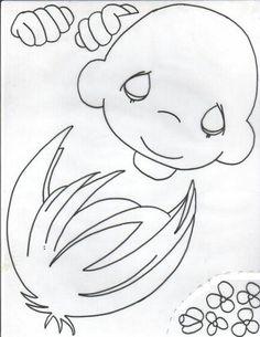 Ateliê da Rê - Artesaneto em E.V.A: Molde: Menino e menina em E.V.A