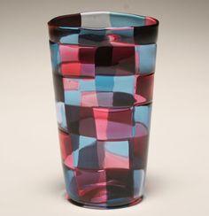 Venini Stockholm Pezzati art glass vase, c.1950.
