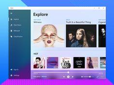 Fluent Design-Music on Behance