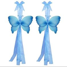 Butterfly Curtain Tiebacks Blue Crystal Nylon Butterflies Pair Set Decorations Window Treatment Holdback Sheer Drapes Holder Drapery Tie Back Decorate Baby Nursery Bedroom Girl Room Kid Decor Home DIY ** Check out the image by visiting the link.