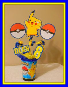 Hey, I found this really awesome Etsy listing at https://www.etsy.com/listing/220613907/pokemon-centerpiece