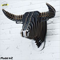 Brand Name: iWood Theme: Animal Material: Wood Regional Feature: Europe Size: Weight: Material: MDF Melamine Cover Color: 9 Colors Style: North Europe Animal: Bull head Wooden Art, Wooden Decor, Wooden Walls, Wood Wall Art, Diy Wood Projects, Wood Crafts, Cardboard Sculpture, Deco Nature, Wood Animal