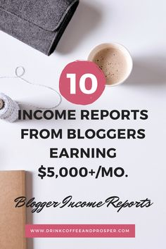 10 Income Reports from Bloggers who earn $5k+ per month. Real income reports..super inspiring. Great read.