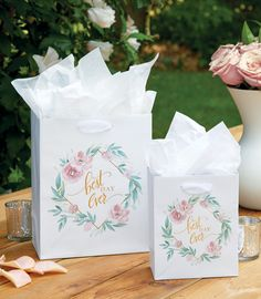 Wedding Gift Bags by Design Design Wedding Gift Bags, Gift Packaging, Design Design, Bridal Shower, Favors, Day, Cards, Wedding Goody Bags, Couple Shower