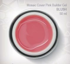 NEW Mosaic Blush Pink Builder Gel Medium viscosity self-levelling builder gel in a beautiful blush pink color.  2 minute cure in standard UV lamp (can also be cured in LED). Can be pinched to create perfect  c-curves. Blush pink will heat up on curing... recommended initial cure 10 seconds & then back in the lamp.  Available in 5ml / 15ml / 50ml
