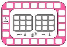 Zelf rekenbordspel maken.  Stappenplan: 1.Verzin sommen tot de 100 (zoals 45 + 20 of 46 – 15). 2.De som die jullie verzinnen moet 2x op het spel komen. 3.Als je alle sommen hebt schrijf dan in het midden de antwoorden. 4.Klaar? Controleer het even snel. 5.Inleveren bij de meester.  Samenwerken; doen we samen! Becoming A Teacher, School Items, Preschool Math, Kids Education, Bingo, Spelling, Letters, Activities, Educational Games