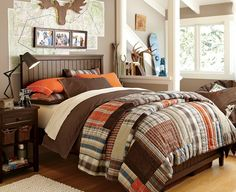 Rustic Beds, Boy Bedrooms & Boy Quilts | PBteen @ Pin For Your Home