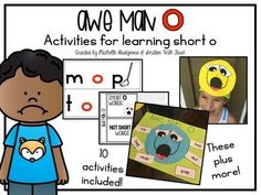 This pack is sure to make learning about the short o sound engaging and fun for you and your kiddos by meeting Awe Man O. When Awe Man gets stuck between consonants, he says awwww (awe man) as in the short o sound. This pack includes 10 activities!-Awe Man O: Use him as a visitor to introduce objective and set the stage for learning about short o. -Awe Man O's Words: this activity can be done in whole group or independently - sort short vowel words -In the Middle: this is an activity for…
